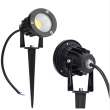 5w 7w 85-265vac outdoor cob landscape spotlight led garden spike light