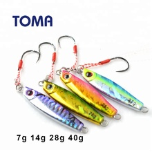 High Quality 7g 14g 28g 40g Metal Jigging <strong>Fishing</strong> Lures Spoon Hard <strong>Bait</strong> Slowly Sinking Jig Lure