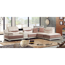 6831 High Density Foam Home <strong>Furniture</strong> Modern Lounge Solid Wood Frame 1+2+3 Small secional Corner Sofa