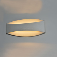 White Aluminum Wall Lamp with LED warm light