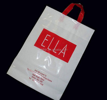 HDPE plastic printed custom made shopping bags for garments