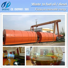 DOING Size D2200*L6600 Recycle tires to thermolysis Oil machine Using For Heating Boiler