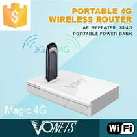2015 VONETS new WiFi product Magic 4G mobile signal booster with power bank