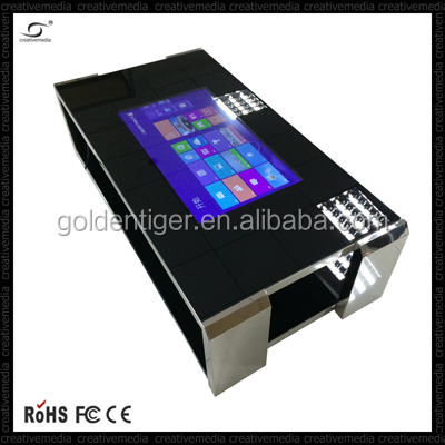 Monitor with Remote control,Multi language 12V-24V OSD pc all in one D525 floor stand advertising palyer 42inch