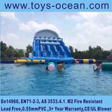 inflatable large water slide for pool ,giant inflatable water slide for adult, cheap inflatable water slides