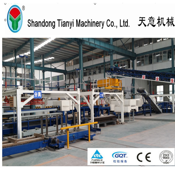high and new technology prestressed concrete hollow core slab production line