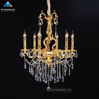 6 lights chandeliers candelabra wrought iron