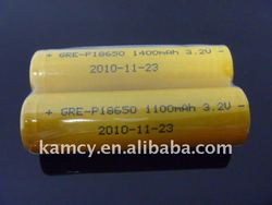 high temperature high quality high capacity 3.2v 18650 lifepo4 battery 1500mah battery