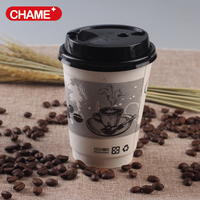 portable double wall coffee and tea paper cup insulation heat protection