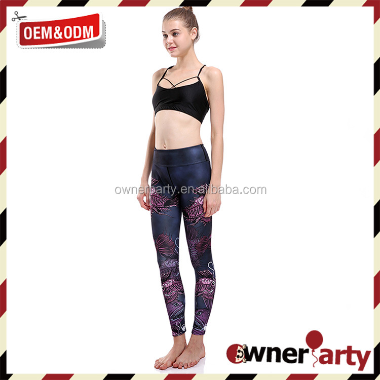 Custom Sublimation Tights Women Fashion Fitness Leggings Workout Athletic Legging