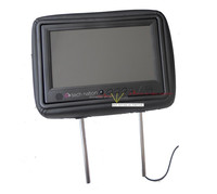 7 inch cab taxi LCD headrest advertising with body sensor & SD card slot