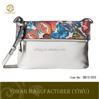 Fashion printing flower PU leather crossbody bag