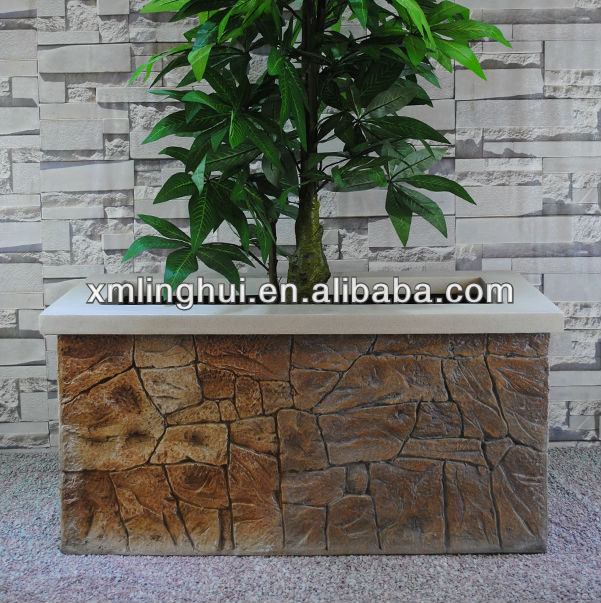 Rock Style Outdoor Large Rectangular Planter Box