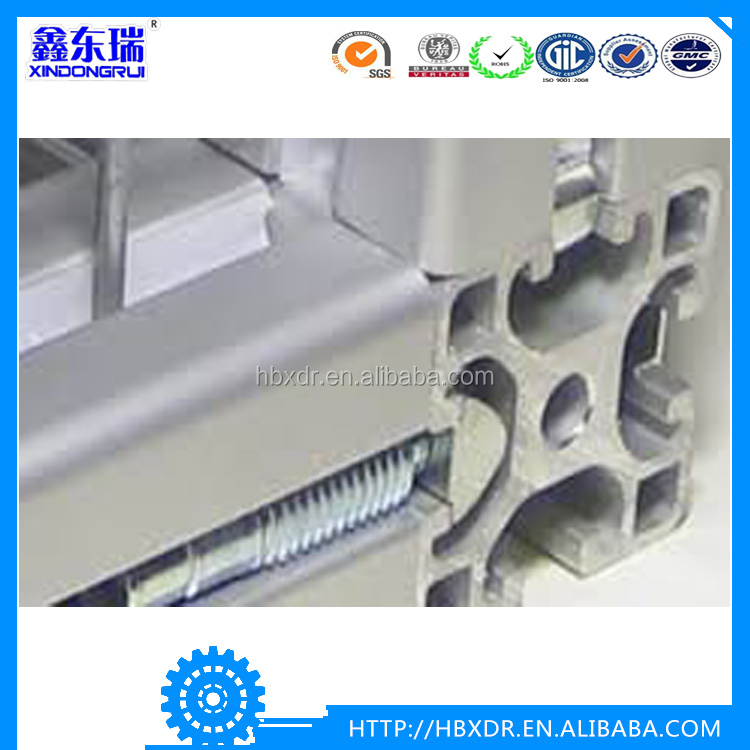 Industrial T slot aluminium extrusion , T slot aluminium profile with 20*20/40*40/30*60/30* 30/40*80/50*50 mm