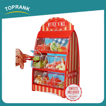 Toprank Hot Sale Pick And Mix Sweet Dispenser 9 Drawer Clear Plastic Topping Candy Dispenser Mini Candy Dispenser