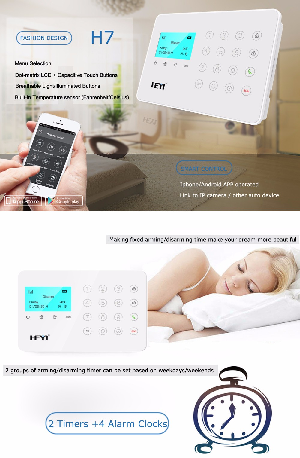 Work with high sensitivity home use natural gas leak alarm /LPG gas detector security alarm system