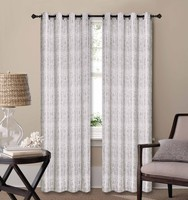1PC CHINA SUPPLIER POLYESTER YARN DYED TAB TOP WINDOW CURTAIN