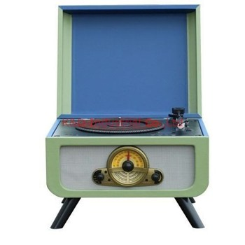 Four Legs Turntable CD Radio Player with USB&SD Decoder and Encoder function
