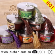 High quality cotton wick with customize scents luxury glass jar candle