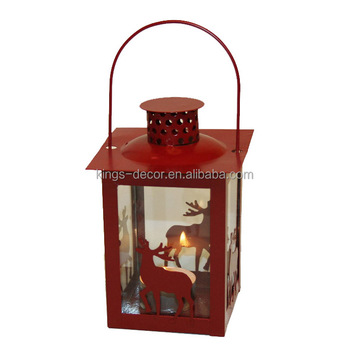 Christmas metal lantern for home decoration