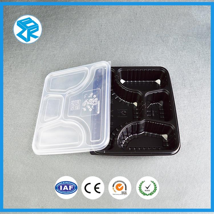 Quality disposable frozen fast food tray packaging plastic meal box compartment bento case