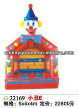 (CH-22169) INFLATABLE BOUNCER , FUNNY CLOWN TINNY HOME USE INFLATABLE BOUNCY CASTLE