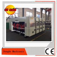 high speed flexo printing slotting machine/corrugated carton box making machine/used corrugated carton flexo printing machine