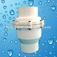 Best quality pvc pipe fittings supplier ball type 4 inch pvc check valve