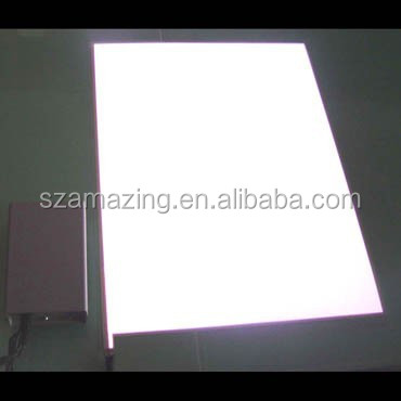 White on White off Electroluminescent backlight sheet el light panel with inverter and adaptor