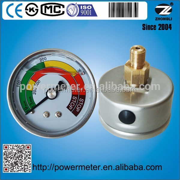 hot sale PT1/8 range from -1 bar to 1000 bar customized liquid mercury prices gauge