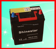 China long life 38B20L Maintenance Free Car Battery 12V 36Ah With Manufacturer price