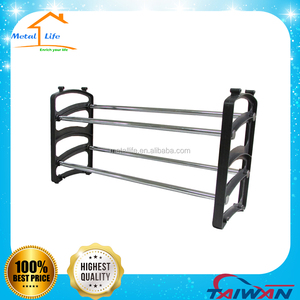 2 tier shelf plastic shoe rack/organizer/stand for 10 pair shoes