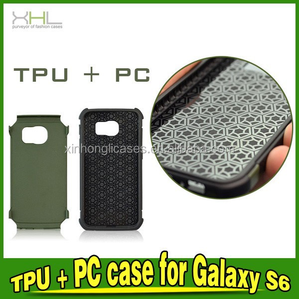 2 in 1 PC+TPU Armor Protective Phone Case For Samsung Galaxy S6 Cover