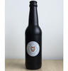 330ML Glass Bright Black Beer Bottle Wine bottles Juice bottles With Customized printing.
