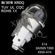 X555-41H E14 TUV UL CE Oven lamp light bulbs sockets holder high temperature steamer microwave