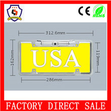 european 312.6*162mm aluminium alloy U.S.A all car brand cars licence/number plate with factorY SALE price (licence plate-064)