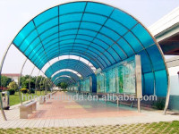 light steel frame polycarbonate canopy/sunshade/awning for sale