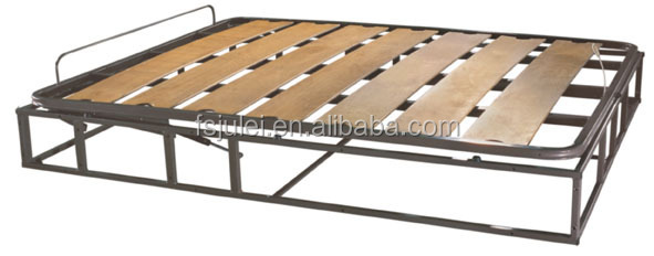 modern smart knock-down gas lift up storage bed frame with strong support wooden slat DJ-ALL04