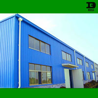 prefab steel building with metal building materials