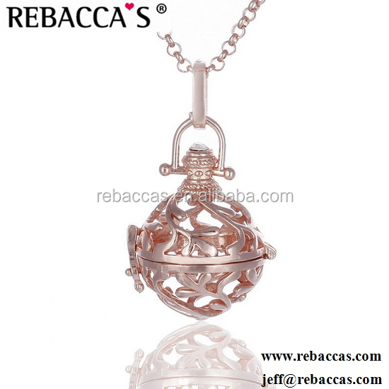 New Maternity Gold Crystal Heart Necklace with Chime Ball Eudora Harmony Balls Pendant for Mom Angel Caller Mexican Bola