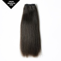 Unprocessed Free Tangle Silky Straight Virgin Remy Brazilian Human Hair Weaving Extension
