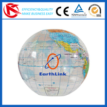 High quality advertising printing clear PVC inflatable earth globe soft beach ball