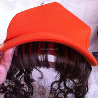 5 panel promotional custom baseball hats, baseball cap with hair wholesale in high qualty