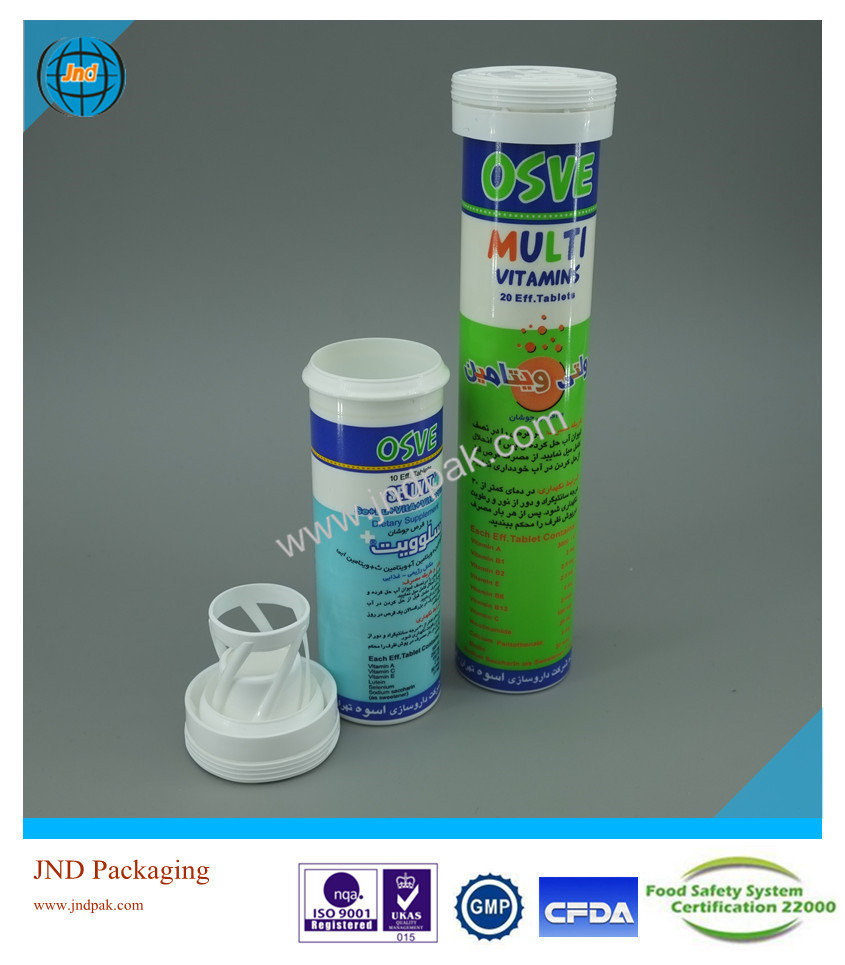 Plastic effervescent tablet packaging with super moisture-free performance and unrivalled offset printing