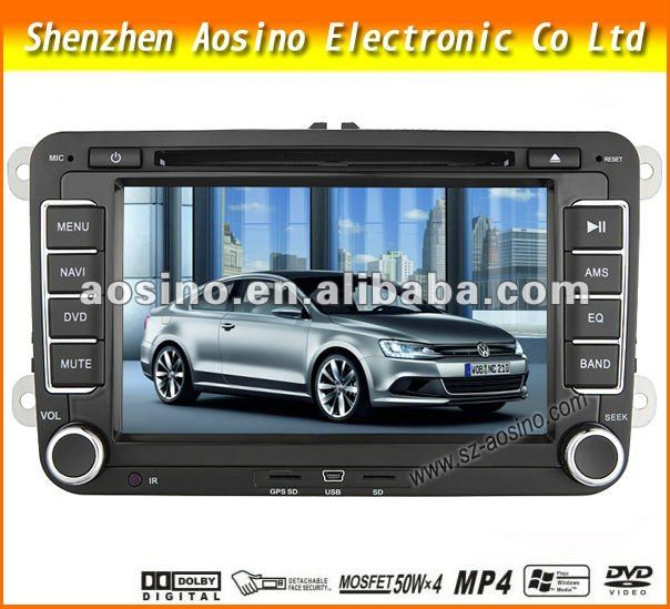 Aosino Car DVD player for VW PASSAT B6 2009-2011 car radio gps with GPS navigation