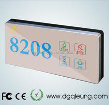 Hotel/house/hospital door plate Electronic Doorplate Touch Doorbell <strong>Switch</strong> with LED Room