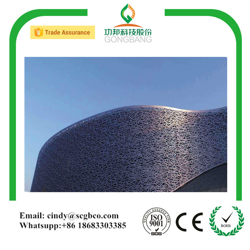wood facad carved panel alucobond aluminum perforated wall cladding panel