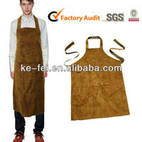 Suede Two Fabric Sewed Industrial Working Apron