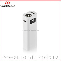 Amk-002 Micro USB Mobile Power Rechargeable Flashlight Power Bank1500 2200 2600mah