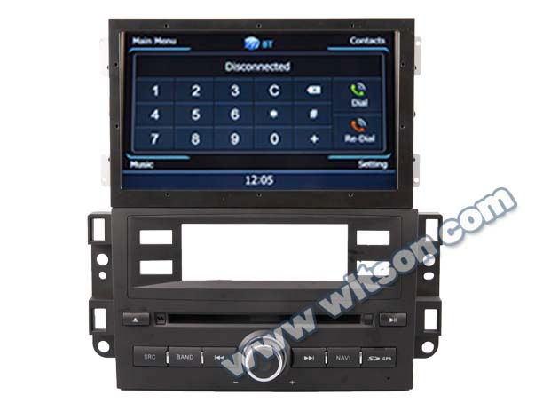 WITSON NEW CHEVROLET CAPTIVA 2012-2013 car dvd player radio WITH A8 CHIPSET DUAL CORE 1080P V-20 DISC WIFI 3G INTERNET DVR